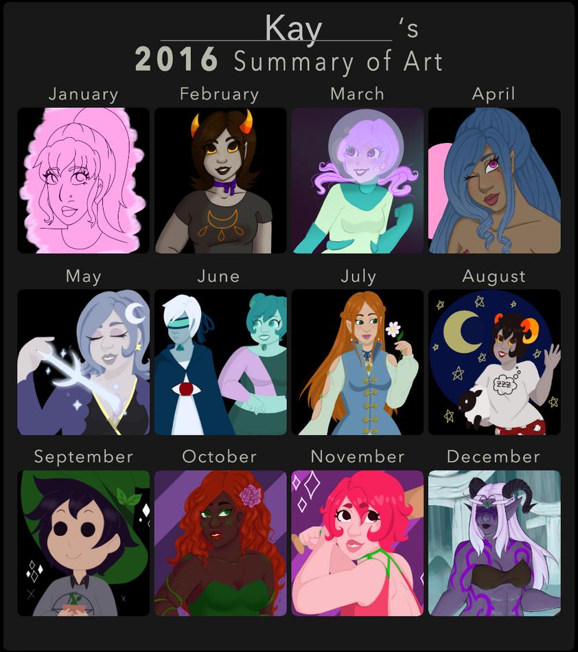 2016 Summary of Art by faerie-daze