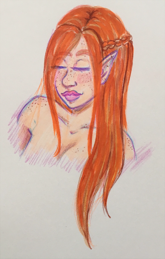 Colored Pencil Exercise 1 by faerie-daze