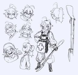 #Youjo Senki - Tanya doodles 1 by Vertigheist