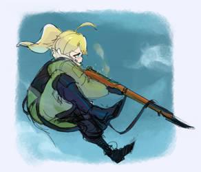 #Youjo Senki - Tanya doodles 2 by Vertigheist