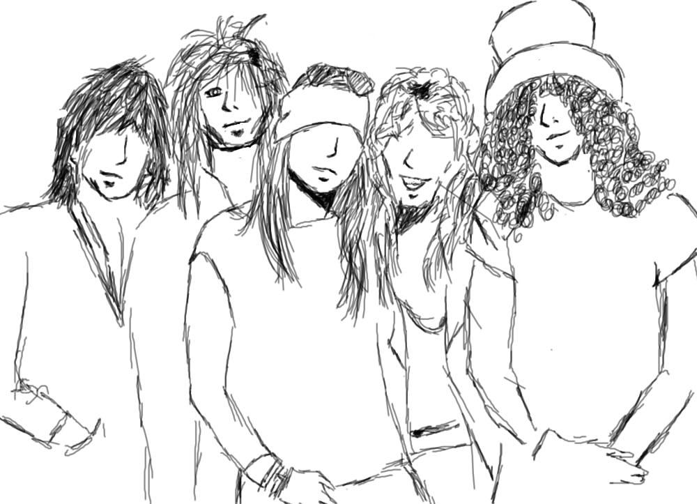 Guns And Roses Drawings Sketch