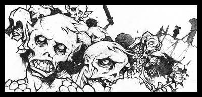 Zombie Horde by voya
