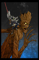 Rocket and Groot Color by voya