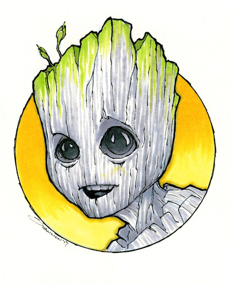 Baby Groot by voya