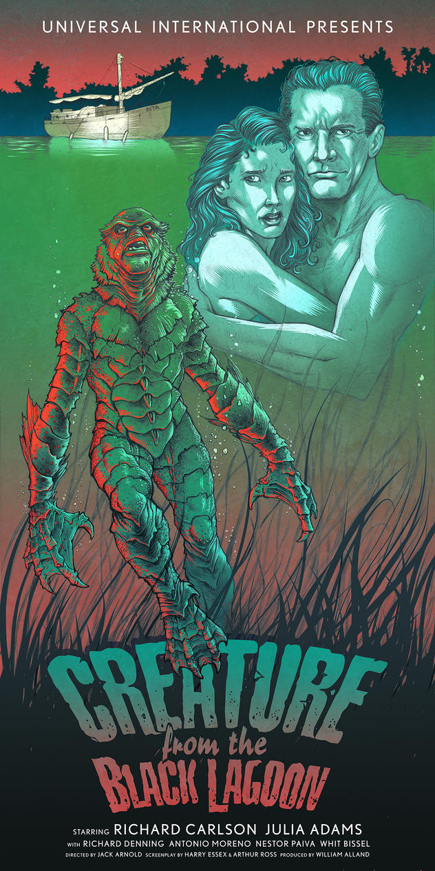 Creature from the Black Lagoon by voya