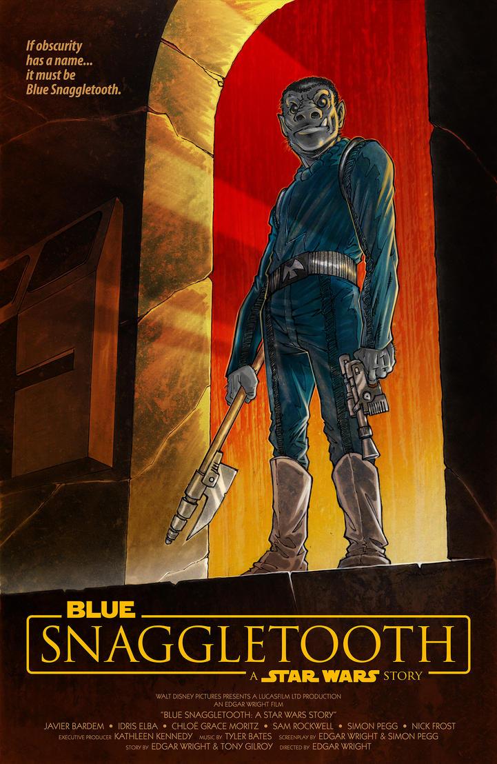 Blue Snaggletooth by voya