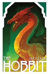 The Hobbit Cover Featuring Smaug by voya