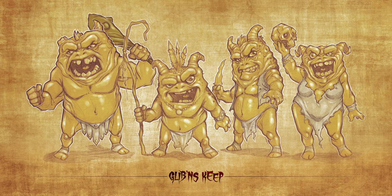 Glib'ns Keep Character Lineup by voya