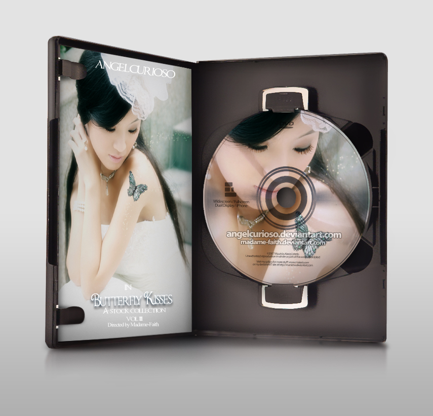 Butterfly Kisses by madame 20 Free CD & DVD Cases PSD Templates