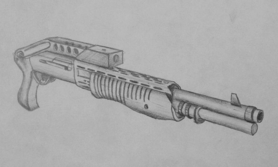 how to draw a gun front