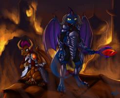 Evil Ember Burns Canterlot