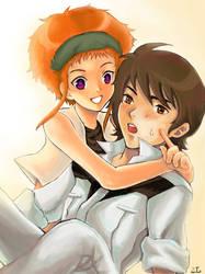 08th MS - Shiro+Kiki by zoelee