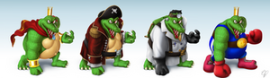 K. Rool Smashified Costumes
