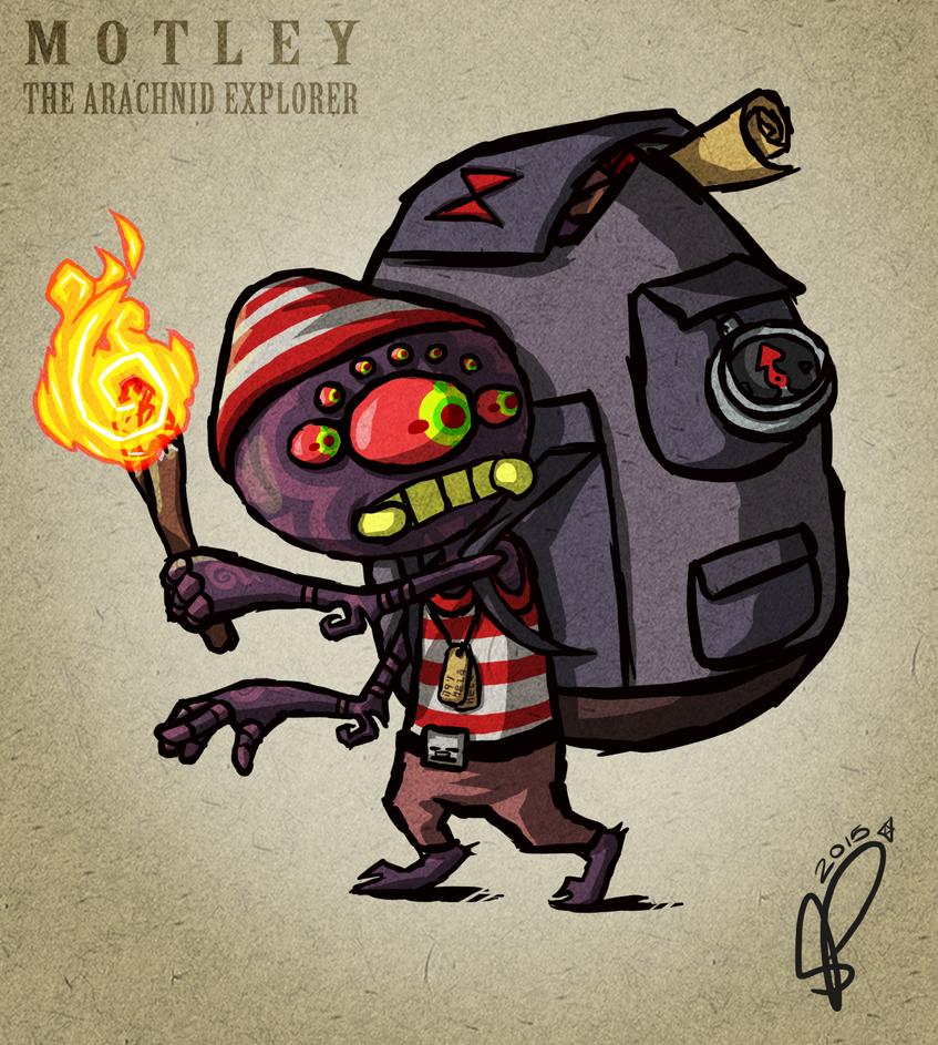 Motley The Arachnid Explorer by Pavlovs-Walrus