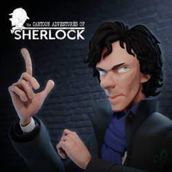 The Cartoon Adventures of Sherlock - 3D Sculpt