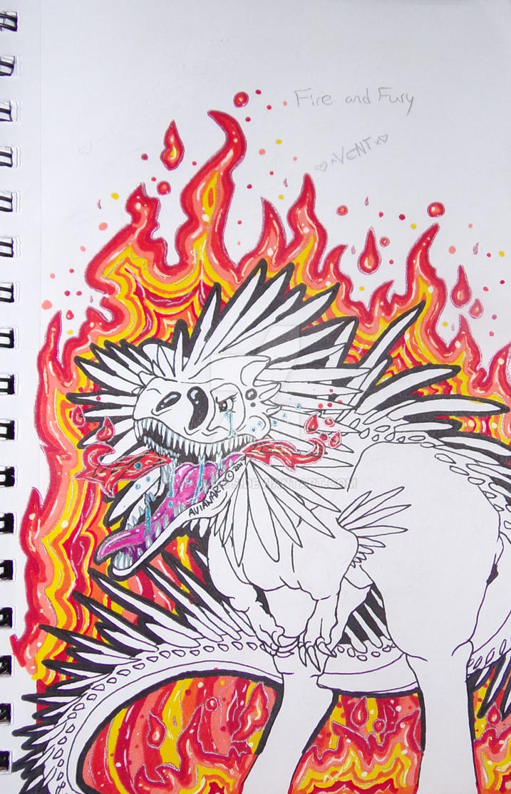 Fire and Fury WIP by AvianArts