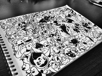 Pokemon Doodle by JeffSequeira