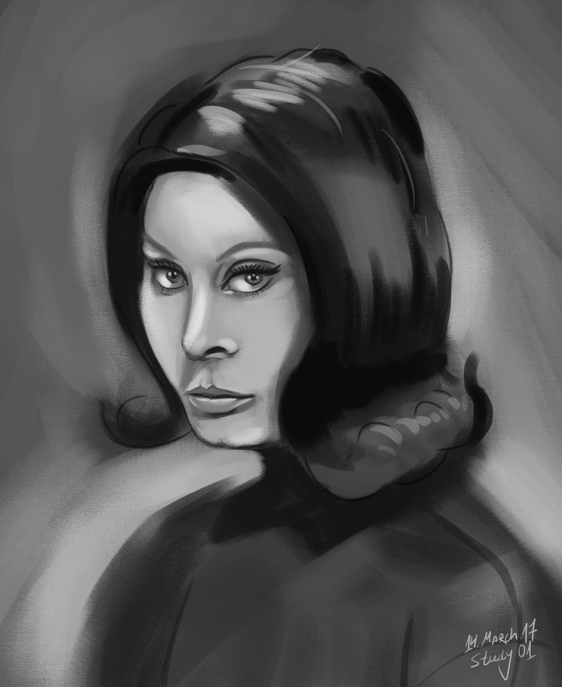 Sophia Loren - Study 01 by petardimitrov