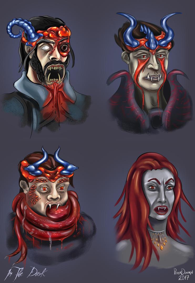 Monster Portraits - In The Dark by petardimitrov
