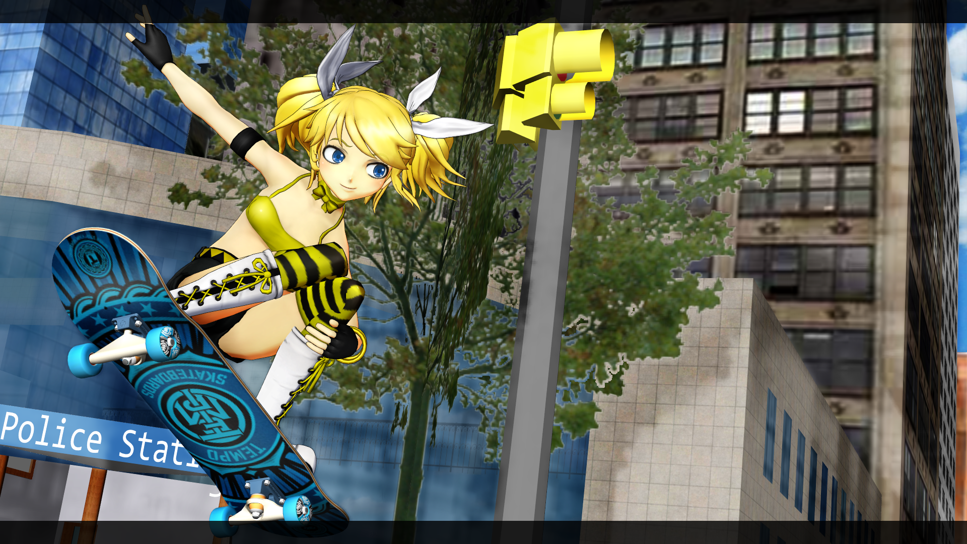3d mmd rin jumping at shadows 2