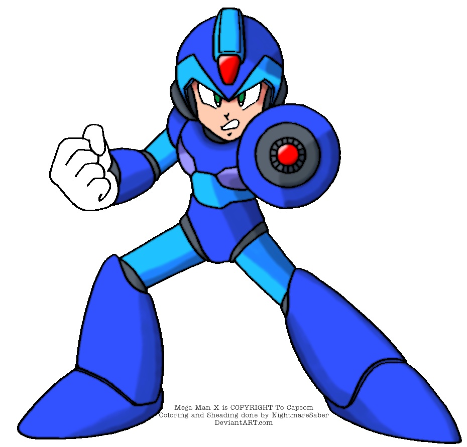 Megaman x coloring pages - Mega Man X Colored By Nightmaresaber Mega Man X Colored By Nightmaresaber