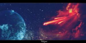 Meteorite on Space