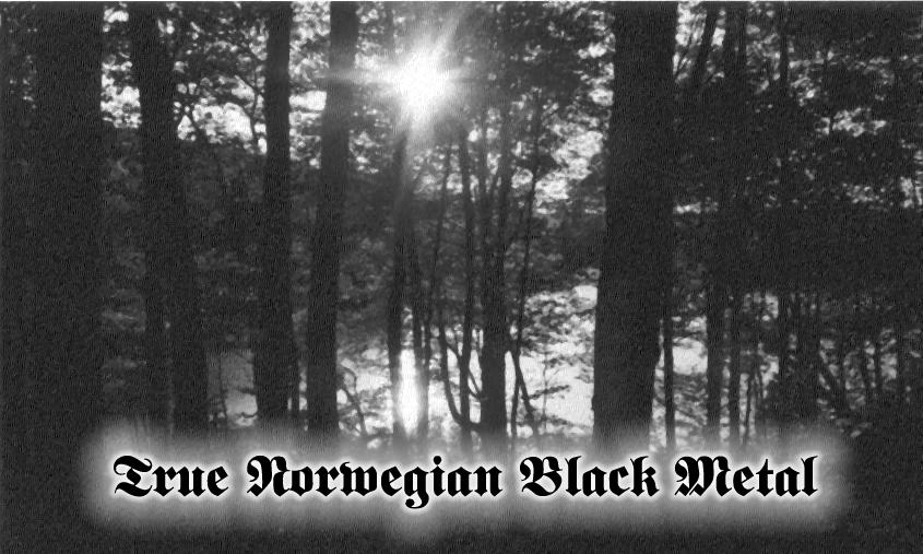 True Norwegian Black Metal By Ag0ny