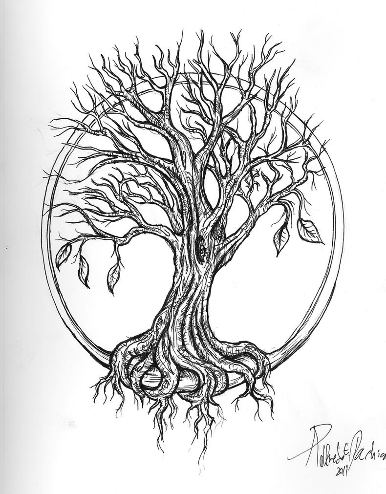 Line Art Poster Design : Tree of life tattoo by don pachi on deviantart