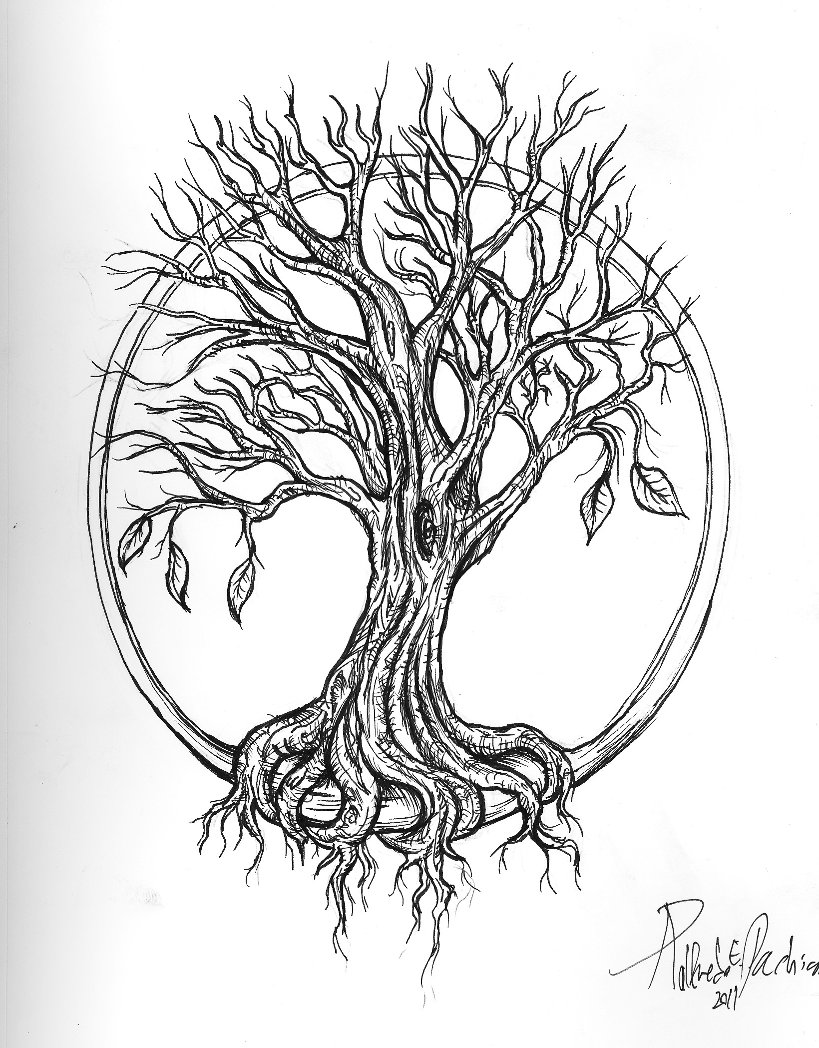 Life and Death Tree - Commission by 16Shokushu.deviantart.com on ...