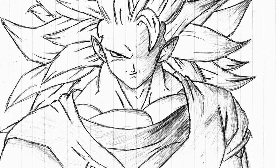 Imagenes Para Colorear De Goku Super Sayayin: Goku Ssj Dibujo
