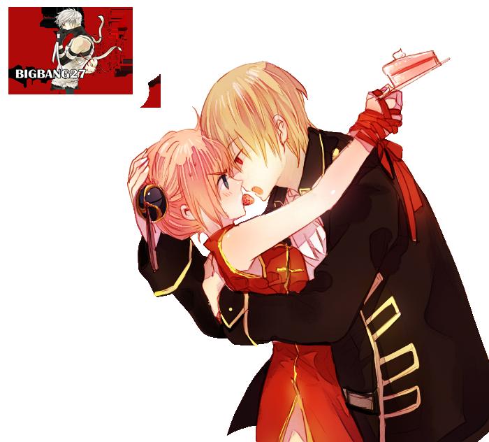 Kagura and Okita/Gintama render 3/png by BigBang27 on ...