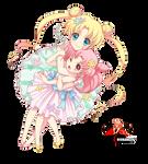 Tsukino Usagi/Chibiusa/Sailor Moon render 1/png