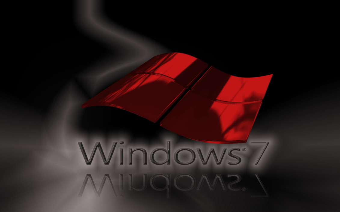 WINDOWS 7 GLASS RED AND BLACK By Ktb2424