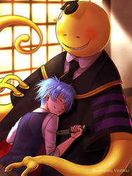 Koro-sensei and Nagisa by ViviMaki