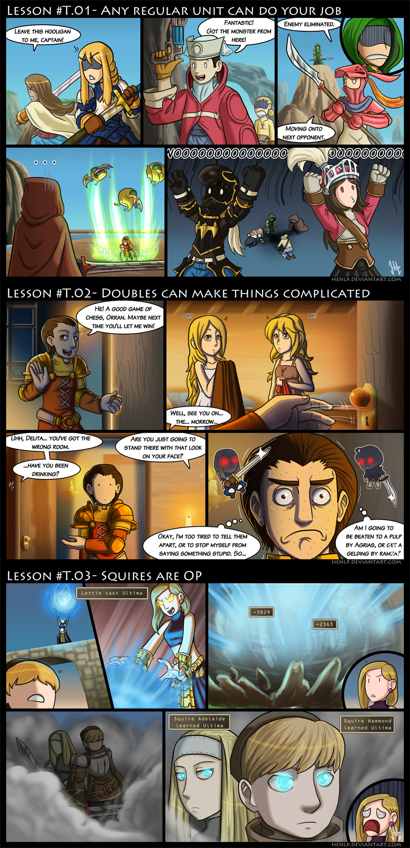 Final Fantasy Tactics Lessons by HenLP