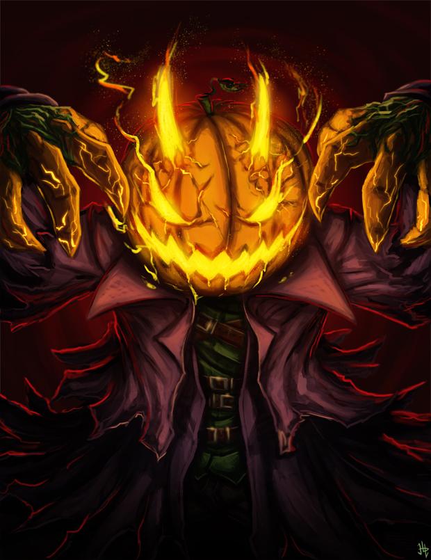Pumpkin Devil - Halloween 2016 by HenLP