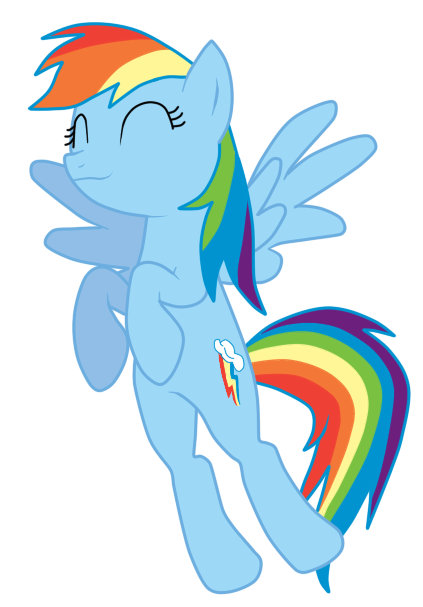 Rainbow Dash. Vector by ShizaLuckyDevil