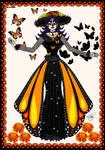 Dia de Muertos 2020: Catrina Itzpapalotl by Lily-de-Wakabayashi