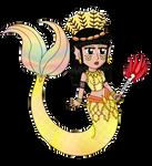 Gift: Chibi Flor de Ambar - Mermaid Version by Lily-de-Wakabayashi