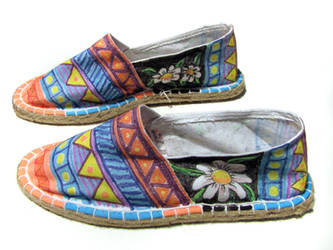 painted espadrille side
