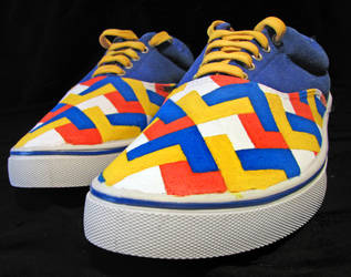 painted shoes pattern