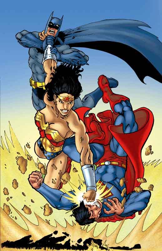 Wonder Woman vs JLA by JLillustrator