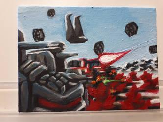 star wars last jedi fan art painting