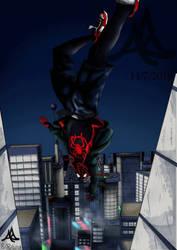 Miles spiderverse fan art 4