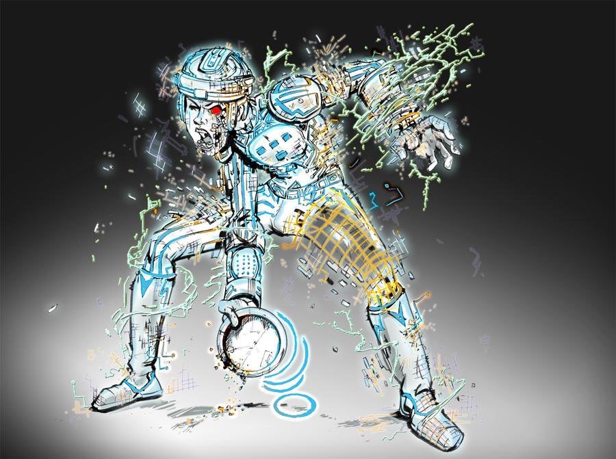Zombie Tron by Gazbot