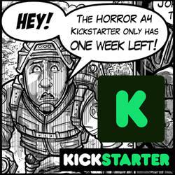 The HorrorA4 Kickstarter 1 week left!