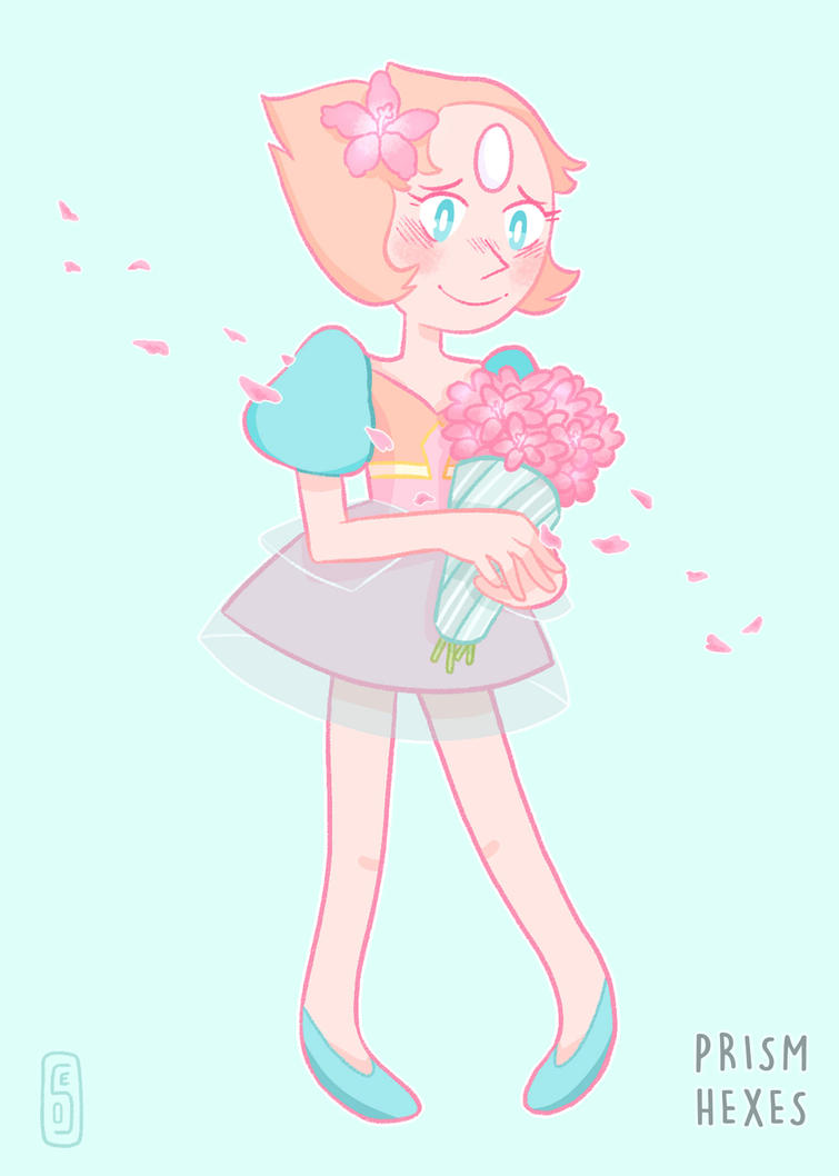 my gosh new eps are great honestly (even the latest fillers QAQ!!) a friend of mine has a theory that because Pearl is sporting all the diamond's colors, that she was made specially for Pink by the...
