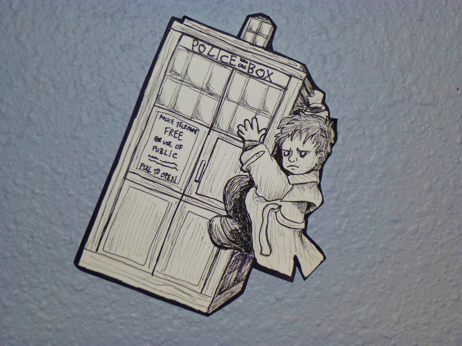 TARDIS Hitchhiker by enginesummer