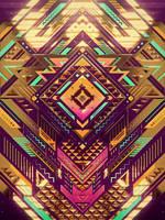 gold sci fi  pattern by Romanowsky