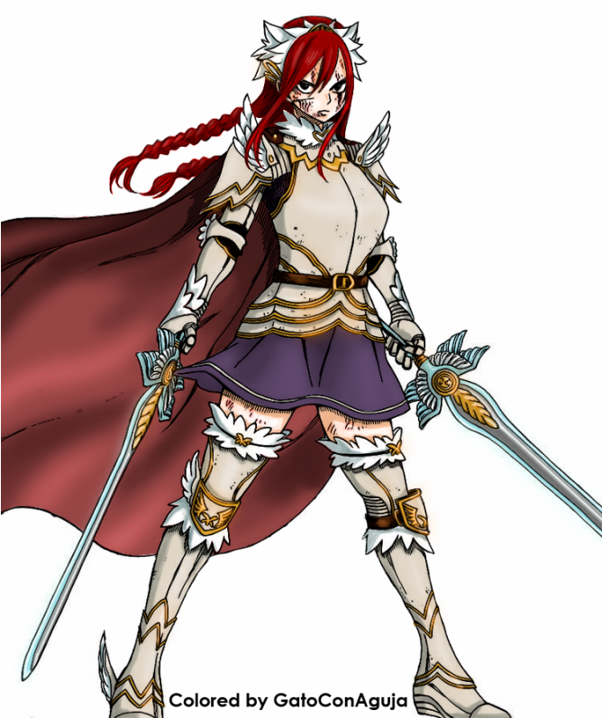 erza scarlet armadura fairy by gatoconaguja on deviantart